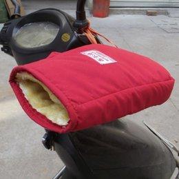 Оптовая продажа-1 пара полный палец мотоцикл ручка перчатки крышка согреться с бархатом хорошее качество