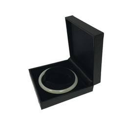 black jewellery boxes wholesale NZ - Jewelry Display Bracelet Bangle Chain Box Cases Jewellery Organizer Box Black Leatherette 9*8.7*3cm 2pcs