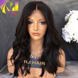 8a Hair Lace Wig Canada - 8A Peruvian Body Wave Lace Front Human Hair Wigs Shan Hair Bob Wigs Virgin Hair Full Lace Wigs For Black Womenort Hum