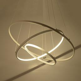 $enCountryForm.capitalKeyWord Canada - Modern pendant lights for living room dining room 3 2 1 Circle Rings acrylic aluminum body LED Lighting ceiling Lamp fixtures LLFA