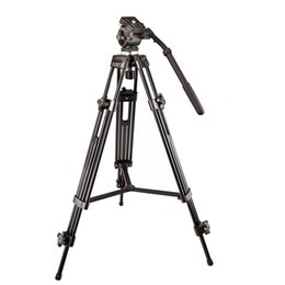 Professional Camcorder Tripods UK - Original Weifeng WF717 Professional Heavy Duty Video Camcorder Tripod DSLR Camera Tripod with Fluid Head for by DHL
