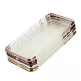China goophone New 3D Quality Up Down Frame Electroplating TPU Phone Case For Iphone 7 Plus Soft Protect Electroplate Transparent TPU Clear Cover cheap new clear phone suppliers
