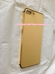 Iphone Real Gold Canada - yellow real Gold Dubai Plating Back Housing Cover Skin Battery Door For iPhone 7 7+ Luxury Limited Edition 24Kt Golden for iphone7