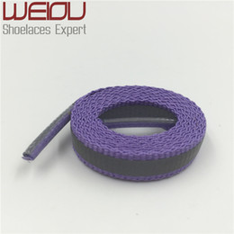 China Weiou Fashionable 4M Reflective Shoelaces Visibility Flat Shoe Laces Running Cycling Safty Shoestrings Cords for Sport shoes weave tape supplier fashionable flat shoes laces suppliers