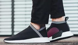 Aplique De Calcetín Baratos-NMD CS2 Primeknit Shock Rosa, Zapatos City Sock 2, Zapatillas de running Casual Women And Men, Primavera / Verano 2017 Zapatillas de deporte de calzado, Ultra Boost