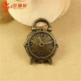 18 * 24 * 3,4 MM Antike Bronze Uhr Charm Anhänger Perlen Handy Zubehör Retro Schmuck Großhandel Shop, Metall Vintage Charme