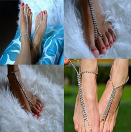 $enCountryForm.capitalKeyWord Canada - 2017 newest Fashion rhinestone Foot Chain Alloy Barefoot Sandals Beach Foot Jewelry Anklets Bracelet For Women Jewelry