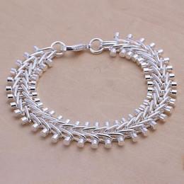$enCountryForm.capitalKeyWord Canada - wedding Fishbone Bracelet 925 silver charm bracelet 20x1.3cm DFMWB050,High quality women's sterling silver plated jewelry bracelet