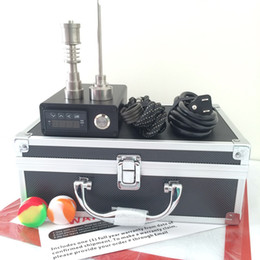 $enCountryForm.capitalKeyWord NZ - Portable E quartz nail kit electric dab nail oil rig E D PID TC control dabber box set Titanium Nail for glass bong