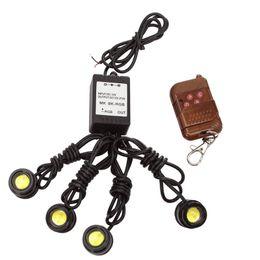Waterproof Remote Control Light Switch Australia - Led Eagle Eye Light Strobe Flash Warning Light DRL Daytime Running Lights with Remote Control Waterproof 4X1.5w