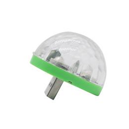 Микрофон USB Разноцветный свет Мини Красочный неоновый свет Украшение Изменение цвета вместе с музыкальным ритмом Продажа