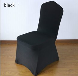 $enCountryForm.capitalKeyWord NZ - High Quality Black Polyester Spandex Wedding Chair Covers for Weddings Banquet Hotel Decoration Supplies Wholesale Prices