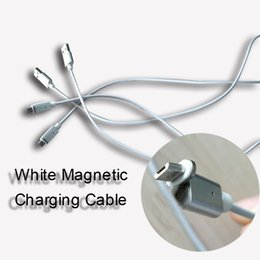 Discount high speed usb charger - White Magnetic Charging Cable without Transmission Micro USB V8 Cable Nylon High Speed Type c Charger 3.3ft 1M For Andro