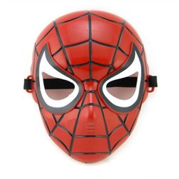 Maschera popolare di Spiderman Red Black Spiderman Superhero Maschera per bambini Masquerady Maschere per Halloween Cosplay Maschera novità per feste
