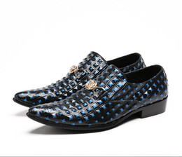 full formal shoes Australia - New Luxury Italian Designer Men Dress Shoes Genuine Leather Flower Men Oxford Shoes Full colour Wedding Formal Shoes Men Flats Z143