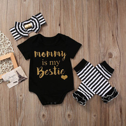 047f7c01620a Baby Christmas Outfit Boutique Girls Clothes Letter Printed Romper Suit  Toddler Onesies Children Christmas Pajamas Legging Warmer Headband