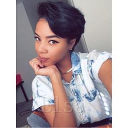 $enCountryForm.capitalKeyWord Canada - Brazilian Human hair Straight Pixie Cut cheap short human hair wigs full density front bob lace wigs for black women
