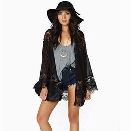 Black Lace Kimono Cardigan NZ | Buy New Black Lace Kimono Cardigan ...