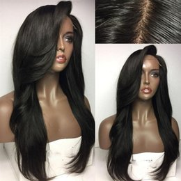 Discount hairstyles for long hair bangs - brazilian glueless full lace human hair wigs for black women lace front wigs with bangs human hair wig