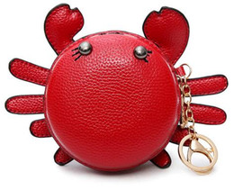 $enCountryForm.capitalKeyWord UK - Kawaii Crab Women Coin Purse High Quality Kids Wallets Famous Brand Coin Purse Boy And Girls Designer Cute Small Wallets