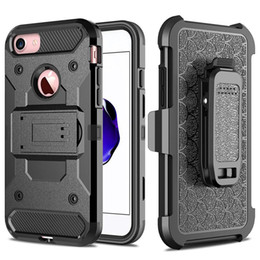 Discount rugged belt clip - For iphone X 8 7 Rugged Armor Case Hybrid Holster Shockproof Kickstand Clip Belt Cover For 6 Plus Galaxy Note 8 S8