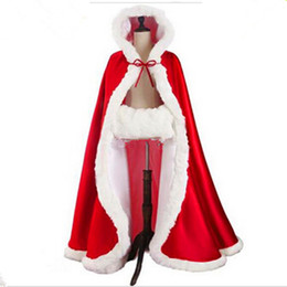 $enCountryForm.capitalKeyWord UK - Women's Red Riding Hood Cape with Hood Halloween Costumes Cloak Fairytale Princess Christmas Costume