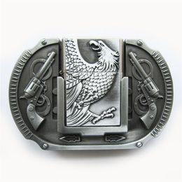 New Vintage Eagle Guns Lighter Belt Buckle Gurtelschnalle Boucle de ceinture  BUCKLE-LT013AS Brand New Free Shipping eagles belt buckle on sale 0fa3c650f48