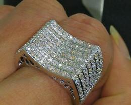 $enCountryForm.capitalKeyWord Canada - Fine Free shipping low price 168pcs white topaz Fashion jewelry 10 kt white gold filled Gem women Wedding Ring gift