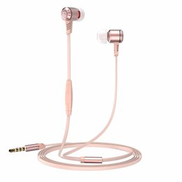 Iphone Original Headsets UK - Original langsdom M410 3.5mm Stereo Earphone Headphone Super Bass Headset with Mic for iphone samsung HTC