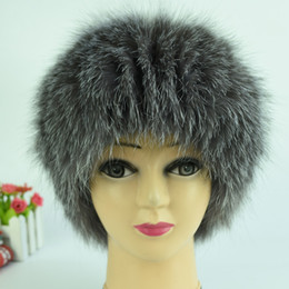 7ca8dae635f33 Wholesale-Silver fox fur hats for women winter warm knitted beanies 2015  new style fashion real fur cap elastic good quality female hat