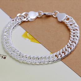 Male chain Models online shopping - brand new B10M full side bracelet male models silver charm bracelet x1 cm DFMWB102 sterling silver plated bracelet