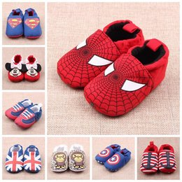 New Design Boy Kids Shoe Canada - Toddler New Arrivals Soft Sole Kids Girl cotton Baby First Walkers Little Girl Boy Shoes Kids Elegant Animals Batman Designs Batman Shoes