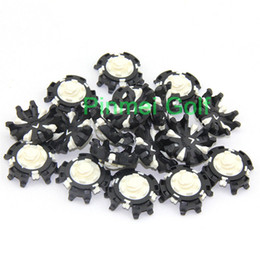 Discount wholesale golf mats - Wholesale- 56pcs lot White -Black Golf Soft spikes Pulsar For Golf CLW Sports shoes for Golf Training Aid