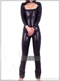 $enCountryForm.capitalKeyWord NZ - New Black Metallic Lycra Zentai Spandex Costume Catsuit