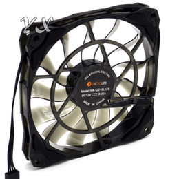 hydro aluminum 2019 - ID-Cooling NO-12015 Slim 15mm Thickness 4pin 12cm Controlled PWM fan mini Case Large Airflow 53.6CFM With De-vibration R
