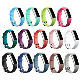 fitbit wristband straps Canada - Wholesale- New High Quality Secure Adjustable Strap Replacement Silicone Strap Clasp for Fitbit Alta Watch Metal Bands Wristband Bracelet