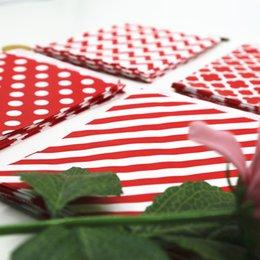 Venta al por mayor de Bolsos de papel del favor del partido de la alta calidad del bolso de caramelo de la tentación 100pcs / Lot El rayo del punto de polca de Chevron imprimió el arte de papel empaqueta los bolsos de la panadería
