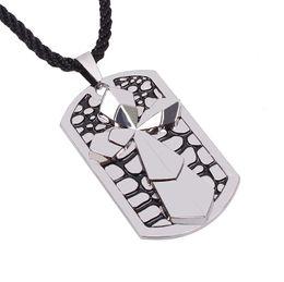 $enCountryForm.capitalKeyWord UK - Fashion Christian cross necklace Titanium double crosses pendant necklaces rope chain tags for men punk jewelry