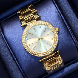 New female watches online shopping - New model Fashion sexy lady watch with diamond Stainless Steel Bracelet women Wristwatches female clock gold silver drop shipping