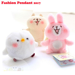 $enCountryForm.capitalKeyWord Canada - 2017 Hot Small Animal Plush Doll Pink Bunny Japanese Kana Hera Kanahei Cute White Bird Keychain Bag Pendant