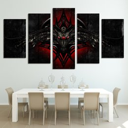 $enCountryForm.capitalKeyWord Canada - 5 Pcs Set Framed HD Printed Symbol of Dragon Game Home Decor Wall Art Canvas Print Poster Canvas Pictures Abstract Oil Painting