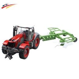 online shopping RC Truck Channel Farm Tractor Plough Set Paratactic Double Blade Rake Remote Control Farm Tractor With Plough Model Toy
