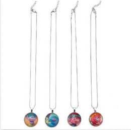 Trolls necklaces online shopping - 20pcs Trolls Chain Cartoon Jewelry Pendant Short Chain Necklace Girls Kids Gift