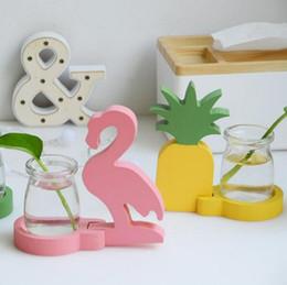 Farm homes online shopping - Hydroponics Flower Green Plant Creative Farming Flamingo Cactus Pineapple Shape Water Culture Practical Glass Vase Home Decor mx F R