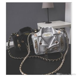 designer motorcycle jackets NZ - New European Brand Designer Chain Motorcycle Bags Women Clothing Shoulder Rivet Jacket Bags Messenger Bag Women Leather Handbags