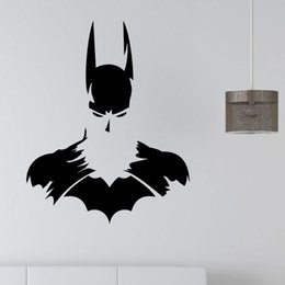 free batman stickers Canada - New Batman SUPERHERO Vinyl Wall Art Sticker Poster Wallpaper Childrens Themed Room Decals Wall Stickers Free Shipping