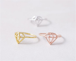 Accessories Rings For Girls Canada - Fashion Diamond Rings For Women Cute hollow Rings For Girl Wholesale Accessories ring jl-322