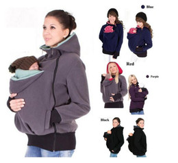 Wholesale red jackets hoodie for sale – winter Maternity Carrier Baby Holder Jacket Mother Kangaroo Hoodies