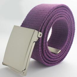 $enCountryForm.capitalKeyWord Canada - 2017 New Solid Color Men Canvas Belt Military Equipment Candy Color White Yellow Men's Belts Luxury Fashion Belt Designer Belts