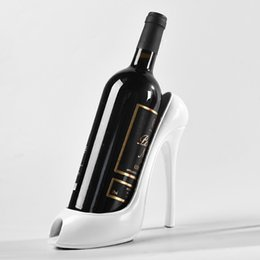 4 Colors High Heel Shoe Wine Bottle Holder - Plastic Resin Wine Racks Home Wedding Party Decor - Women Gift from black shoe boxes for shipping suppliers
